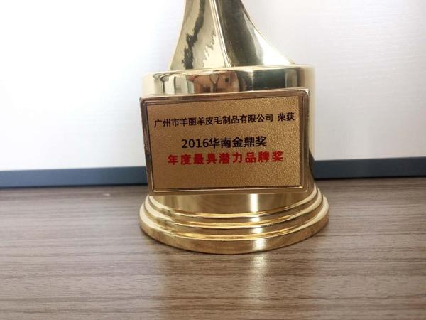 """羊丽羊荣获""""2016年度最具潜力品牌奖""""!"""