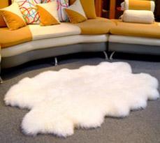 四张拼接客厅羊毛地毯