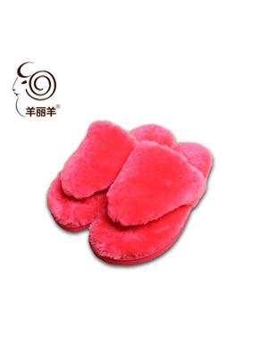 【羊丽羊】澳洲皮毛一体保暖拖鞋