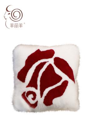 【羊丽羊】澳洲进口皮毛一体羊毛抱枕招商加盟办公室卧室汽车用靠枕靠垫抱枕价格美丽