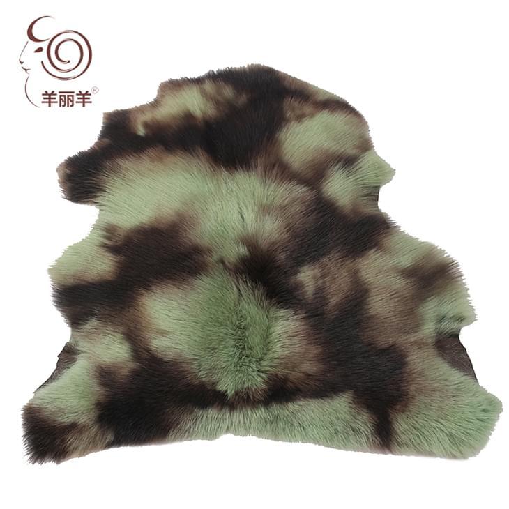 【羊丽羊】意大利进口混色高端托斯卡纳羊皮毛一体服装面料