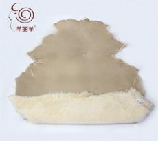 【羊丽羊】澳洲进口绒面沙色皮毛一体