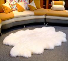 【羊丽羊】四张拼接客厅羊毛地毯
