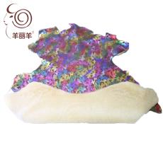 【羊丽羊】蝴蝶结紫色印花皮毛一体
