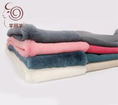 【羊丽羊】服装用单色绒面土种羊皮毛一体