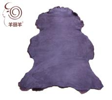 【羊丽羊】UGG雪地靴用紫色绒面皮毛一体