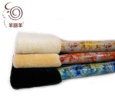 【羊丽羊】澳洲进口花瓣纹覆膜羊皮毛一体