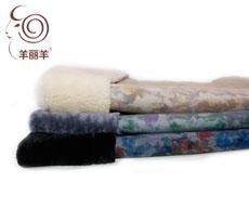 【羊丽羊】澳洲进口自然纹理覆膜羊皮毛一体