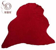 【羊丽羊】服装用红色水波纹反穿羊皮毛一体