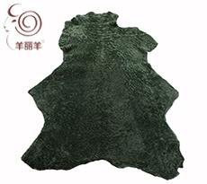 【羊丽羊】服装用军绿色水波纹反穿羊皮毛一体