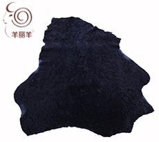 【羊丽羊】服装用深蓝色水波纹反穿羊皮毛一体