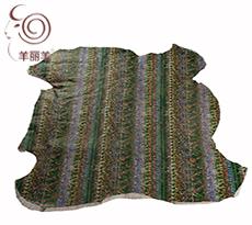【羊丽羊】澳洲进口服装用绿色覆膜美利奴羊皮毛一体