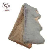 【羊丽羊】意大利进口服装托斯卡纳羊皮毛一体真皮面料