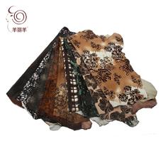 【羊丽羊】厂家直销进口头层皮 最新流行印花胎牛皮 鞋材箱包皮具
