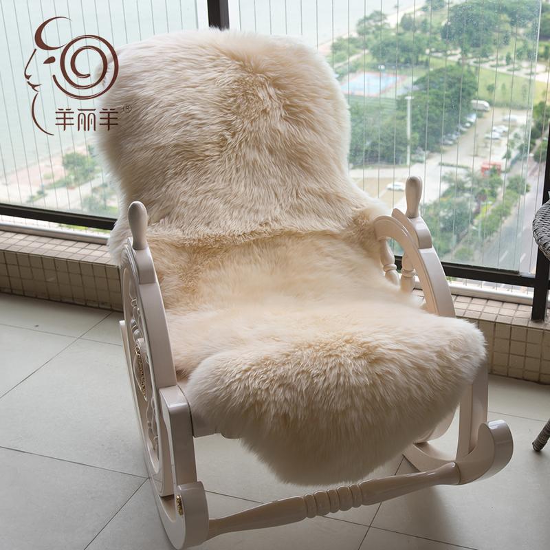 【羊丽羊】澳毛沙发垫椅垫羊皮毛一体地毯飘窗垫客厅长毛羊毛坐垫